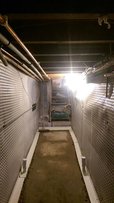 ap gooch installation of a single pump cavity drain system in east