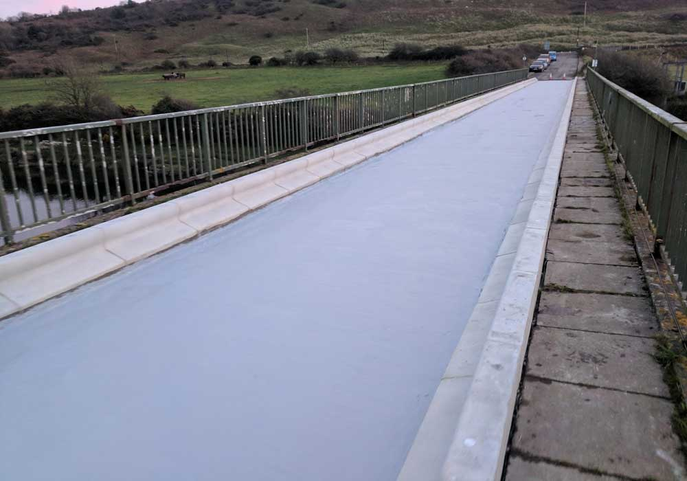 Polyurea deck waterproofing - finished coat